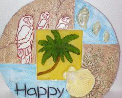 A1 Beach Style Garden Stone Happy-