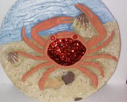 A13-Sea Life Style Garden Stone -Crab