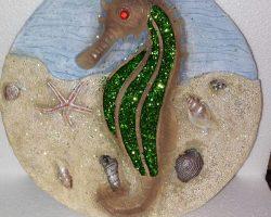 A14-Sea Life Style Garden Stone -Seahorse