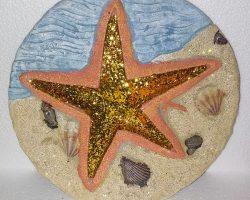 A15-Sea Life Style Garden Stone -Starfish