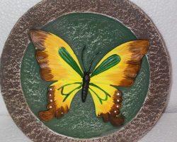 A18-Small Butterfly Garden Stone -Orange