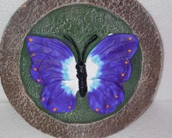 A20-Small Butterfly Garden Stone -Purple