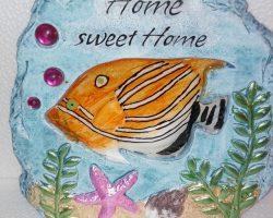 A21-Ocean Style Garden Stone -Orange Fish