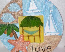 A3-Beach Style Garden Stone -Love