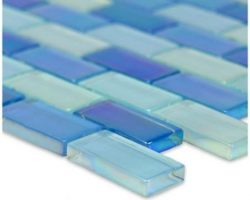 Crystal Iridescent Sky Blue Blend Brick
