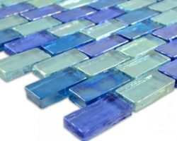 Poured Light Blue Brick