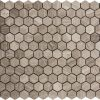 Wooden Gray Hex Small