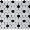 Black White Small Hexagon