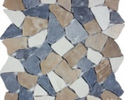 Ocean Stone Tan White Gray Tumbled