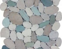 Ocean Stone White Green Tan Sliced