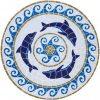 Dolphin Medallion Mosaic