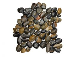Pebble Stone Round Black Strip
