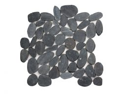 Pebble Stone Sliced Black